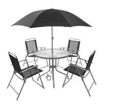 Blooma 6 Piece Garden Furniture Set, £40.00 @ B&Q