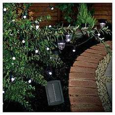 50 Berry White LED Solar Line Light @ tescodirect.  Was £14.98.  Now £7.47