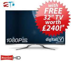 "55"" LG TV and get a 32"" LG free plus free magic remote and 7 pairs of glasses £1799.95 @ Richersounds"