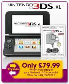 Nintendo 3DS XL Console + AC Adapter £79.99 when you trade in your 3DS at GAME