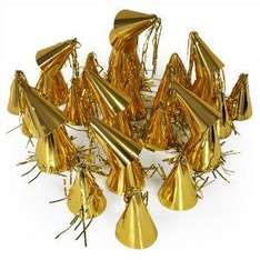 Cheadle Royal 100 Mini Gold Cone Party Hats now £5.39 del @ Amazon
