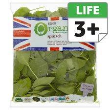 Tesco Organic Spinach - 200g £1