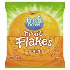 Fruit Bowl Fruit Flakes 20g and Yogurt covered fruit 30g from £0.11 @ Sainsburys