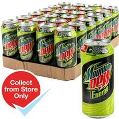 Mountain Dew Energy Drink (UK Version, Case of 24) RRP £26.16 only £9.36 (39p Per Can - Available separately instore) + free store collection @ Home Bargains
