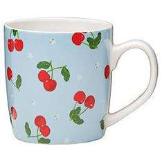 Tesco cherry mugs, set of 8 for £8