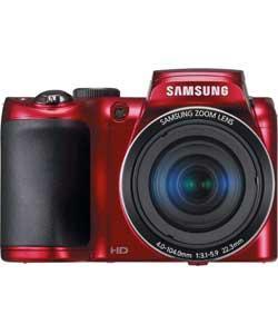 Samsung EC-WB100 16MP Bridge Camera - Red 16MP, 26x Zoom 720P HD Recording @ Argos - £109.99
