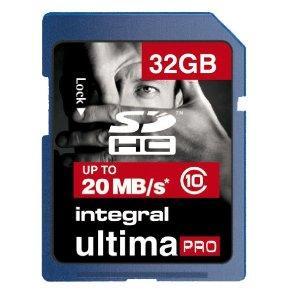 Integral SDHC Class 10 Memory Card 32GB -£14.71 @ amazon