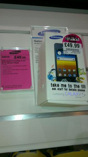 Samsung Galaxy S 3.6 WiFi media player £49.99 HMV instore
