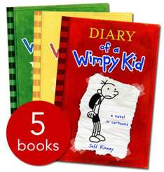 """(New) """"Diary Of A Wimpy Kid"""" Collection - 5 Books (in Slipcase): £8.94 at TheBookPeople.co.uk"""