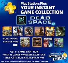 Playstation Plus + Store update (Including free Dead Space 2 + Rock of Ages)