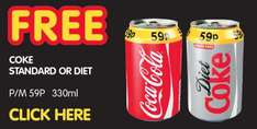 Premier Stores - voucher for free can of coke