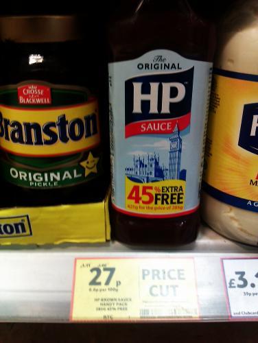 Original HP Sauce 425g Price Cut 27p @ tesco express (Milton Keynes)