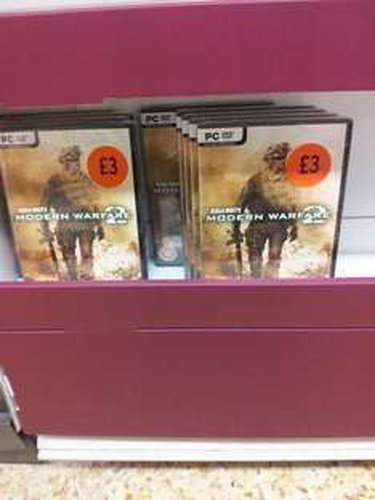 Call of duty Modern warfare 2 for pc £3 at sainsburys.