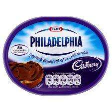Chocolate Philadelphia, 39p a 160g tub or 3 for £1 at Fulton Foods.