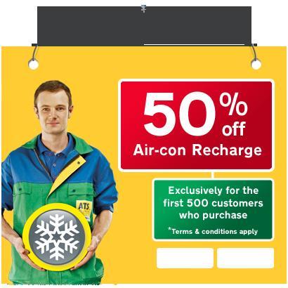 HALF PRICE Air Con Recharge £22.49 @ ATS euromaster