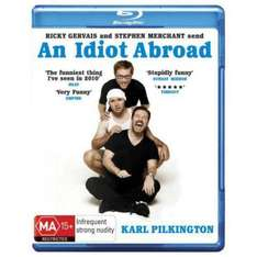An Idiot Abroad, Series 1. BLU RAY. A fiver delivered at Amazon