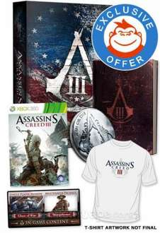 Assassin's Creed III 3 Join Or Die Xbox 360 - £45.47 / PS3 - £42.38 + T-Shirt @ Tesco Entertainment