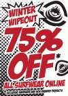 Saltrock Surfwear Winter Wipeout Sale - 75% off all Saltrock Surfwear