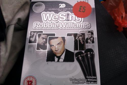 Robbie Williams We Sing Wii inc 2 mics £5 @ Sainsburys instore
