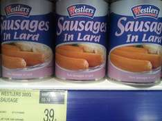 Westler's Sausages in Lard £0.39 @ B&M
