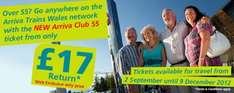 Arriva Club 55 is back. Return travel from only £17 for over 55 year olds