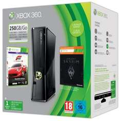 Includes: 250gb XBox 360 Console, Forza 4 Essentials Edition, The Elder Scrolls V Skyrim Full Game DLC Code + 1 Month XBox Live Gold Membership £179.85 @ ShopToEbay
