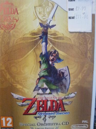 Legend of zelda skyward sword including special orchestra CD for nintendo wii £11.96 including VAT at costco