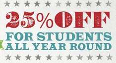 Free Chiquito 25% OFF Student Card