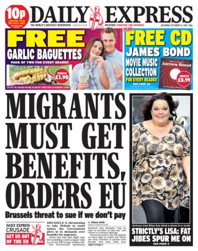 Saturday newspaper offers - see post - Mirror/ Express/ Star/ Mail/ Telegraph