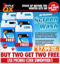 Concentrated Screenwash - Buy 2 Get 2 Free = 4 x 5 litres for £8 delivered @ EuroCarParts with promo code SWOFFER1