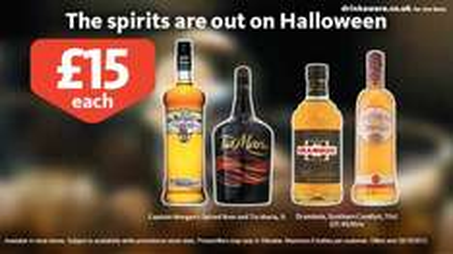 Various 1 litre bottles of spirits - £15 at Morrisons + Save £5 on your next £40 shop