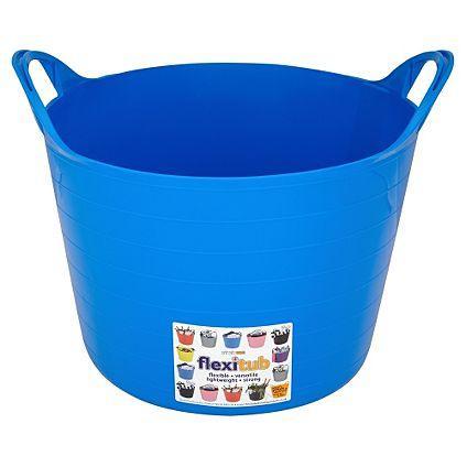 Strata Flexi Tub Blue - 14L - Blue, pink or green - £2 each or 3 for £5 @ Asda