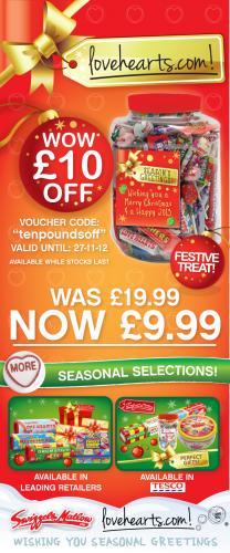 Massive Christmas Sweet Jar £9.99 with code @ Love Hearts