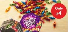 Quality Street Tins £4 at Tesco from tomorrow... possibly others.