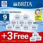 Brita Maxtra 9 pack replacement water filter cartridges (+3 FREE)