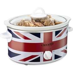 Crock-Pot Union Jack Slow Cooker, 3.5 Litre, Limited Edition - Amazon Lightning Deal - Be Quick - £17.60