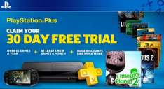 PlayStation Plus 30 Day Trial - FREE @ PlayStation