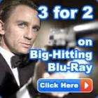 3 for 2 on Sony Blu Ray 3 films for £25.86 delivered + 5% Quidco @ The Hut