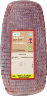 Sainsbury's Beef Roasting Joint (Approx 2.6Kg) £12.97