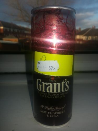 GRANTS 250ml WHISKY AND COKE 6.6% 59P MORRISONS