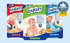 Lidl Toujours nappies; Midi, Maxi or Junior; 56/50/44 Pack; 8.4p/9.4p/10.7p/Nappy