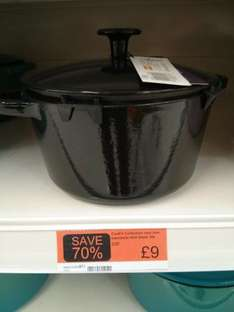 Black cast iron casserole dish 3ltr £9.00 at Sainsburys instore 70% off
