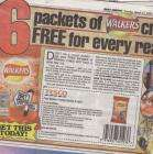 Free with Daily Mirror Today 27/03 6 Pack of Walkers variety pack crisps ( Mirror voucher needed collect crisps @ Tescos) Paper cost 40p/ The 6 PACK of Crisps cost £1.06 (1 voucher per 6 pack)