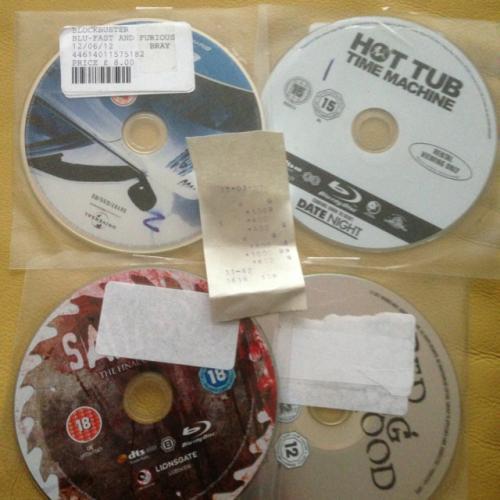 Blockbuster DVD/Blu-ray sale £1.00 @ Yorkshire Trading