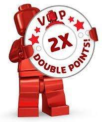 Double VIP Points at Lego stores and online