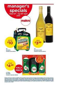 Roundup weed killer pump and go 5 litre £12 @ Makro