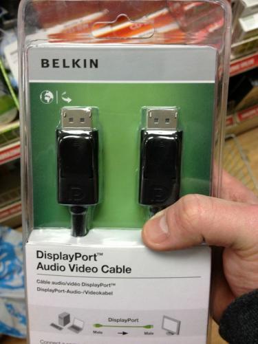 Belkin Displayport to Displayport cable, 1.8m for £1 @ PoundLand