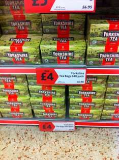 Yorkshire Tea 240 Bags for £4 (normally £5.98) Morrisons