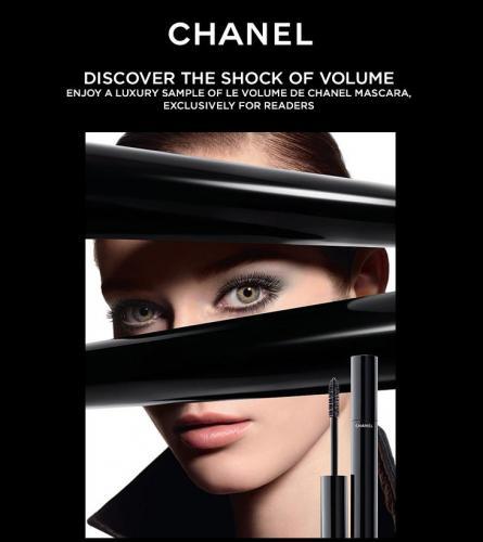 Complimentary luxury sized sample of LE VOLUME DE CHANEL mascara @ Stylist