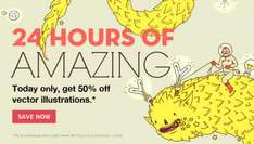 Designers - 50% Off Vector Illustrations on iStockphoto Today Only